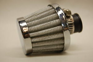 Spectre 3998 2 Mini Breather Clamp On Vent Filter Chrome White 3 8 1 2