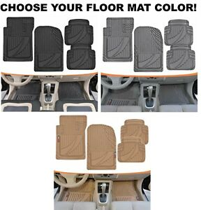 Motor Trend Flextough Advanced Performance Mats 4pc Hd Rubber Floor Mats Cars