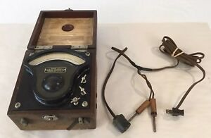 Vintage 1918 General Electric Alternating Current Ammeter Type P3 W Plugs