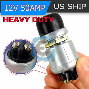 50a 12v Waterproof Car Boat Track Switch Push Button Horn Engine Start Starter