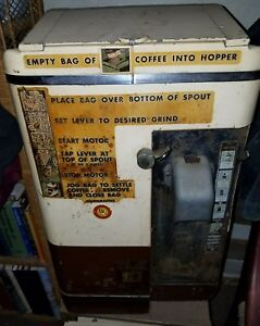 American Duplex Commercial Coffee Grinder Model 509 In Working Condition Vint