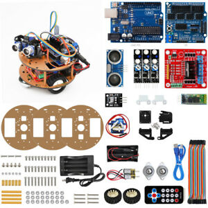 Smart Turtle Robot Car Bluetooth Wireless Control Learning Kit For Arduino