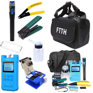 Ftth Fiber Optic Tool Kit Fc 6s Fiber Cleaver Optical Power Meter Screwdriver