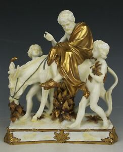 Dresden Volkstedt After Meissen Figurine Aesop And Children