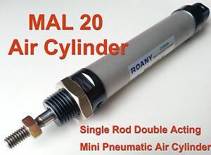 Mal 20mm X 500mm Single Rod Double Acting Mini Pneumatic Air Cylinder 20x500