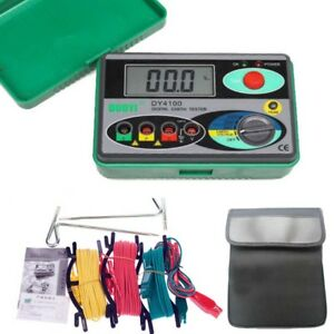 Ce Dy4100 Digital Earth Ground Resistance Tester Meter