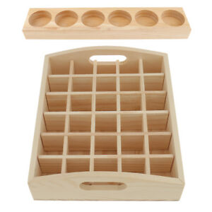 2pcs Retail Stores Wood Essential Oil Bottle Storage Box Display Case Stands