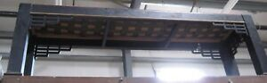 Black Hand Carved Wood Art 5 Wide Chinese Dragon Bench Restaurant Fixture