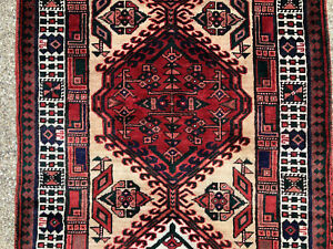3x11 Persian Runner Rug Antique Heriz Hand Knotted Serapi Wool Tribal 3x10 3x12
