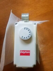 Dayton 1uhh1 Line Voltage Mechanical Thermostat Heating Or Cooling 24 240 Vac