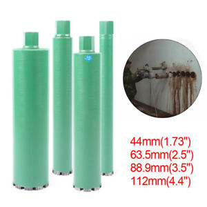 1 73 2 5 3 5 4 4 Wet Diamond Core Drill Bit For Concrete Premium Green Set