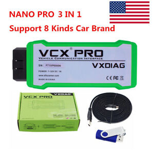 Us Ship Vxdiag Vcx Nano Pro Obd2 For Gm Ford mazda For Vw 3 In 1 Diagnostic Tool