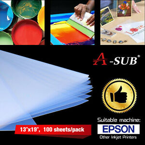 A sub 100 Sheets 13x19 Waterproof Silk Transparency Inkjet Film Screen Printing