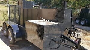 Big Foot Bbq Smoker W Sink Grill Trailer Food Truck Mobile Catering Conce