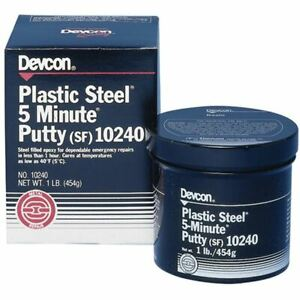 Devcon Plastic Steel 5 Minute Putty sf Container Size 1 Lbs