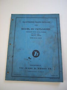 Ih Hough Hu Front end Wheel Pay Loader Tractor Parts Catalog Manual List 14b 15b