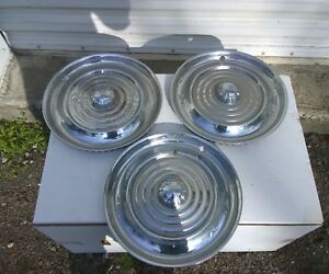 1956 Oldsmobile 88 98 Starfire 15 Inch Wheel Cover Set Of 3 Hubcaps