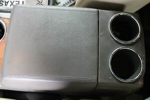 2007 2008 Ford Expedition Center Front Console Armrest Only Stone Gray Leather