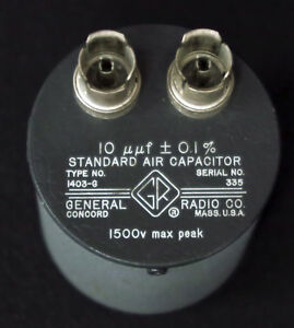 Gr General Radio 1403g Standard Air Capacitor 10 Pf 0 1 1403 g