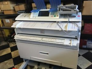 Ricoh Aficio Mp W3601 Wide Format Plotter Scanner