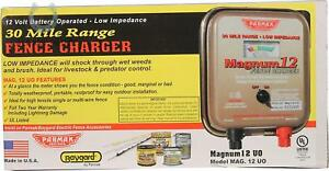 Parmak Mag12 uo 12 volt Magnum Low Impedance Battery Operated 30 mile Range Elec