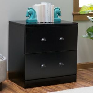 Belham Living Cambridge Lateral Filing Cabinet Black Black