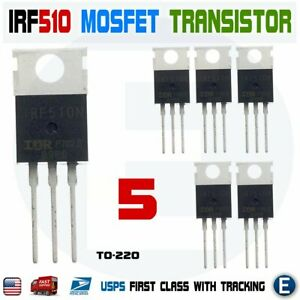 5pcs Irf510n Irf510 Power Mosfet N channel Transistor 5 6a 100v Irf510pbf To 220
