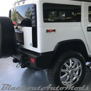 Hummer H2 Blackout Tail Light Covers 2003 Thru 2009 Models Free Shipping