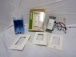 Motion Sensor Light Switch Lot Two Switches One Used One New 1 Electrical Bo
