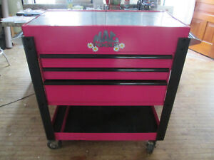 Custom Mac Tools 3 Drawer Tool Cart Box Mb190uc In Pink