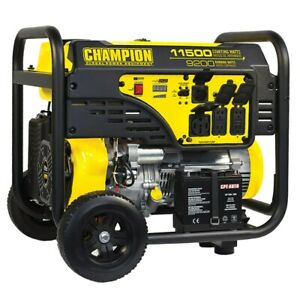 Champion 100110 9200 Watt Electric Start Portable Generator carb