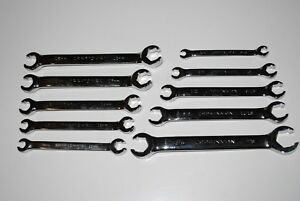 New Craftsman 10 pc Full Polish Standard And Metric Flare Nut Wrench Set
