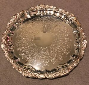 Poole 14 Silverplate Footed Platter 3210 Authentic Reproduction New In Bag