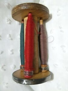 Huge Old Wooden Industrial Thread Spool Bobbin Rustic Farmhouse Primitive Decor