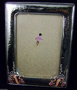 Sterling 5 X61 2 Picture Photo Frame Baby Pink Fish View Our Finethings4sale