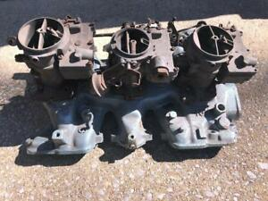 Pontiac Tri Power Intake 389 1960 1959 1958 1957 1956 1955 With Carbs Muscle Car