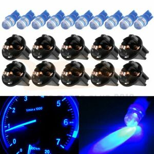 10x Blue Led T10 194 Cluster Speedometer Dash Light Bulbs Twist Lock Socket