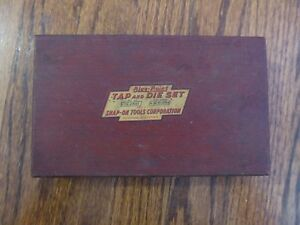 Vintage Blue Point Snap On Tap And Die Set Wood Box Only