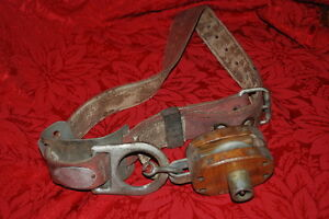 1978 Vintage Lineman s Pole Climbing Belt Rose Mfg co