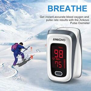 Pulse Oximeter Fingertip Blood Oxygen Saturation Measure Monitor Pulse Rate Spo2