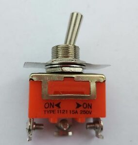 10pcs Spdt On on Toggle Switch 1121 Single Pole Double Throw Switch 250v 15a