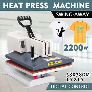 Digital Heat Press Machine 15 x15 Sublimation Transfer T shirt Cap Mug Printing