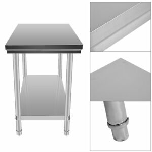 24 X 48 Stainless Steel Work Prep Table With Backsplash Kitchen Restaurant Xv