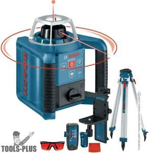 Self leveling Rotary Laser Layout Beam Complete Kit Bosch Tools Grl300hvck New