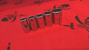 Snap On Tools Tmmd 12pt Metric 1 4 Shallow Sockets Usa Part Set S3