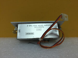Harris Sd 102390 Opt 002 Rf Preamp 076 103176 2 Ghz Low Noise Amplifier Tested