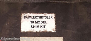 Daimler Chrysler Dodge 30 Model Shim Kit Book Pinion Depth Shims