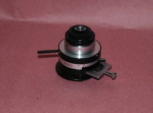 Olympus Polarizing Microscope Condenser Assembly With Polarizer Pol Petrographic