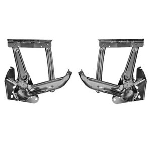 Pair 1967 1972 Chevy Gmc Pickup Truck Hood Hinges L r Sides