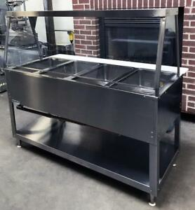 Duke Ep304sw Restaurant Kitchen Equipment 4 Well Hot Food Electric Steam Table